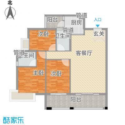 保利国际广场112.00㎡02户型3室2厅2卫1厨