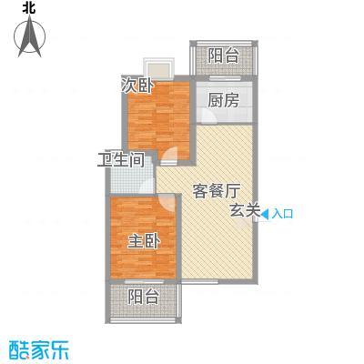 太原礼顿山8.21㎡12#四户型2室2厅1卫1厨