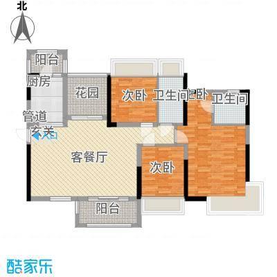 嘉宏公园1号12.00㎡12栋04单元、14栋03单元紫荆风度户型4室2厅2卫1厨