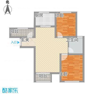 融科瀚棠(河东)高层7号楼标准层B2户型