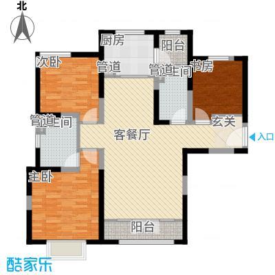新梅江锦秀里高层标准层B-01户型