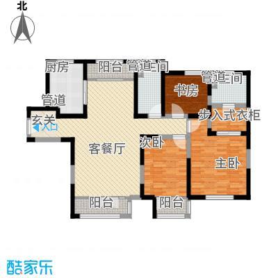 新梅江锦秀里高层标准层B-03户型