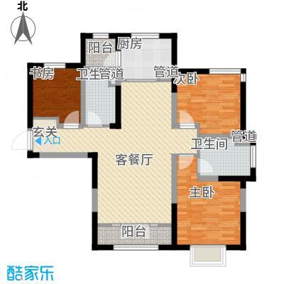 新梅江锦秀里高层标准层C-03户型