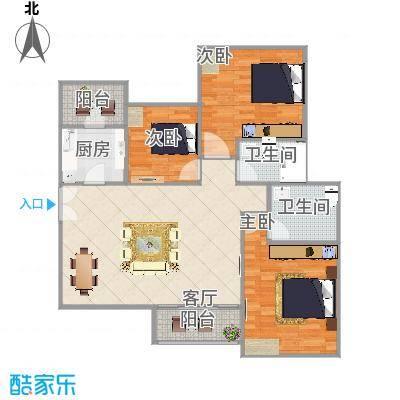 云浮-东晟花园-1座4梯01户型设计方案