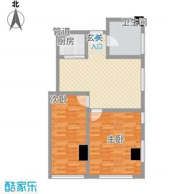 松江置嘉公寓高层标准层08户型