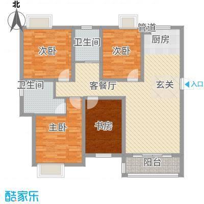 西贝广场142.17㎡D户型4室2厅2卫1厨