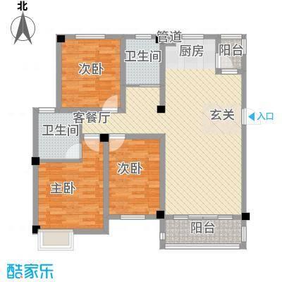 西贝广场128.80㎡C户型3室2厅2卫1厨