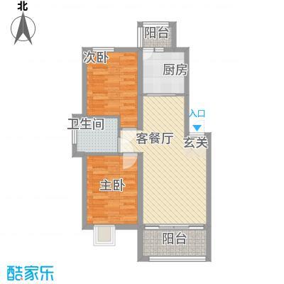 慧海湾78.00㎡D5#楼A户型2室2厅1卫1厨