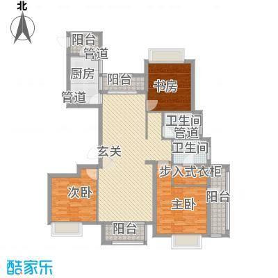 清华世界城154.00㎡E户型3室2厅2卫1厨