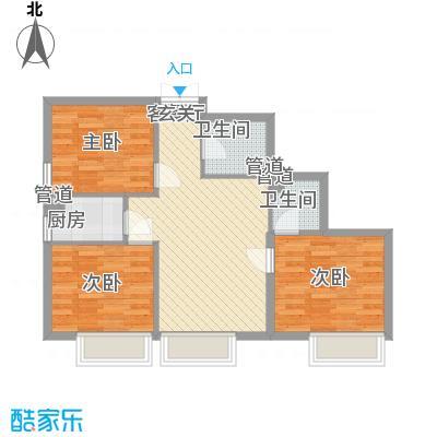 天津东方环球影城高层标准层D户型