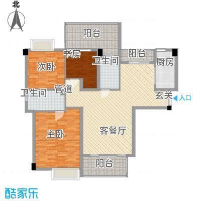 特房五缘尊墅3居户型