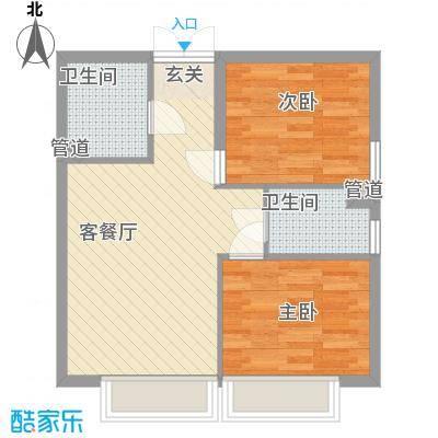 天津东方环球影城高层标准层C户型
