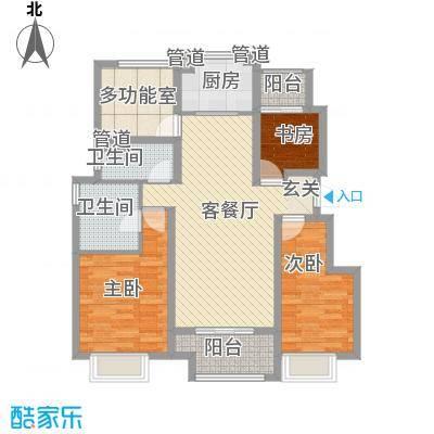万科城一期洋房Y1#Y4#Y6#Y8#标准层G户型