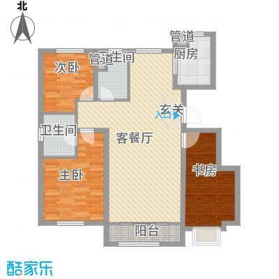 海昌天澜二期洋房标准层D户型