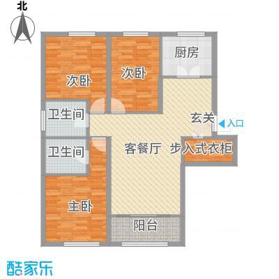 海昌天澜二期高层标准层E户型