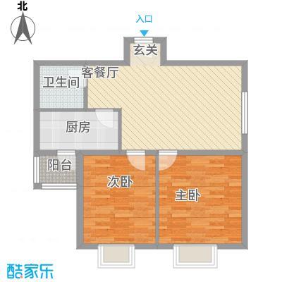 太原礼顿山1.84㎡三户型2室2厅1卫1厨