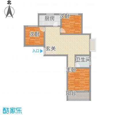新富专家公寓113.00㎡三期高层3户型3室2厅1卫1厨