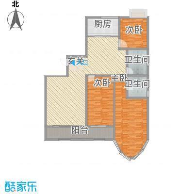 新富专家公寓17.00㎡高层住宅C户型3室2厅2卫1厨