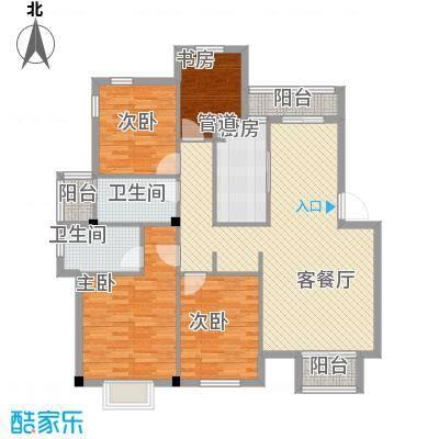 龙湾银都户型4室2厅1卫1厨