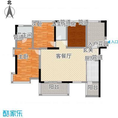 枫丹琴园7户型3室2厅1卫1厨