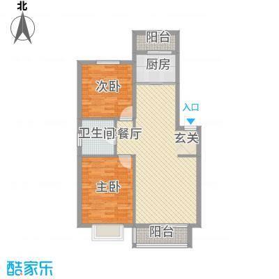 高塘二村户型2室1厅1卫1厨