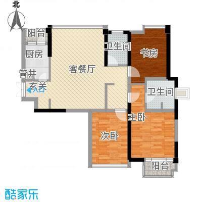 世纪东方商业广场121.35㎡户型3室2厅2卫1厨