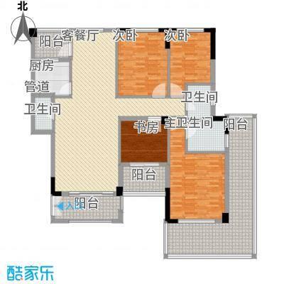碧海蓝天146.15㎡G1型户型4室2厅2卫1厨