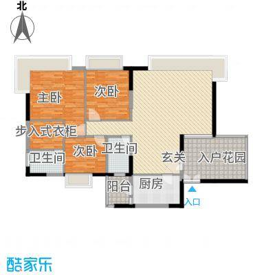 益利名门花园14.50㎡6户型3室2厅2卫