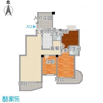 金峰山庄户型3室2厅2卫1厨