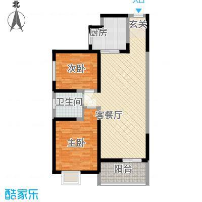 海荣豪佳花园15.21㎡E户型2室2厅1卫1厨