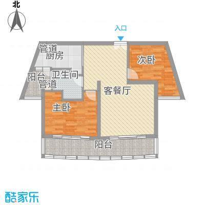 陆家嘴中央公寓户型2室