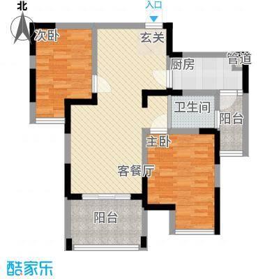 古楼广场81.00㎡户型2室