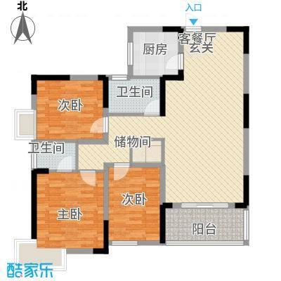 集美大唐世家20396795274c7f015743a30户型3室2厅2卫1厨