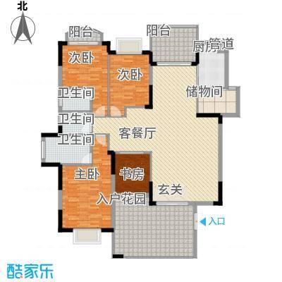 皇庭御珑湾18.00㎡D2户型5室2厅2卫1厨