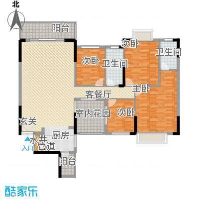 皇庭御珑湾15.00㎡C2户型4室2厅2卫1厨