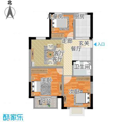 欣明文锦城106.6㎡A6户型-副本