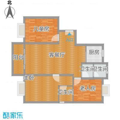 荷馨苑125平方三室两厅两卫