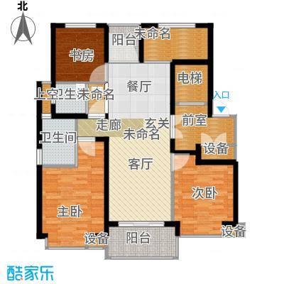 九龙仓雅戈尔铂翠湾112-117平米户型3室2厅2卫-副本