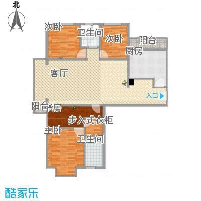 118㎡A-5型三室两卫两厅一厨