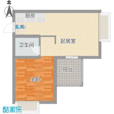 东江丽景68.00㎡G型户型1室2厅1卫