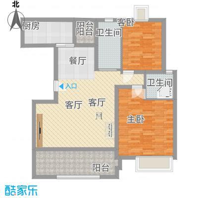 金色西郊城103.00㎡上海户型2室2厅2卫-副本