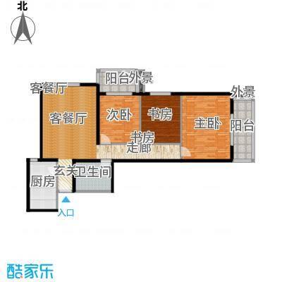 南极星111.00㎡三居室户型-副本