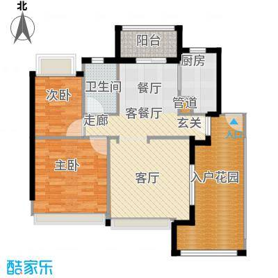 广州雅居乐花园花巷88.03㎡RD2面积8803m户型-副本