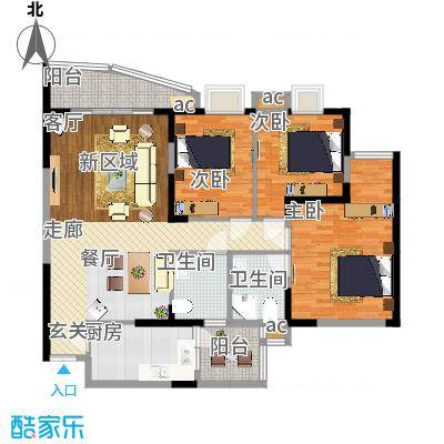 嘉华鑫城102.60㎡6面积10260m户型-副本