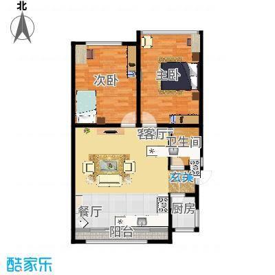 蓝天公寓78.00㎡面积7800m户型-副本