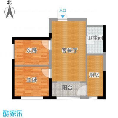 宏泽中央公园89.71㎡户型2室2厅1卫-副本