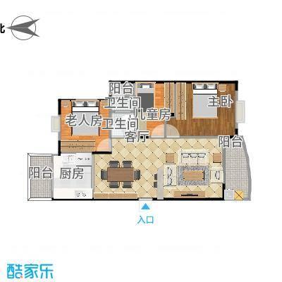 丰泽湖山庄-三房设计方案二-副本-副本-副本-副本-副本-副本-副本