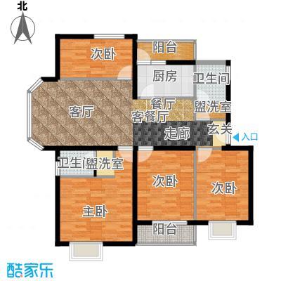 白河涧别墅126.06㎡四室两厅两卫户型-副本