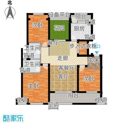 九龙仓碧堤半岛140.00㎡B户型3室2厅-副本
