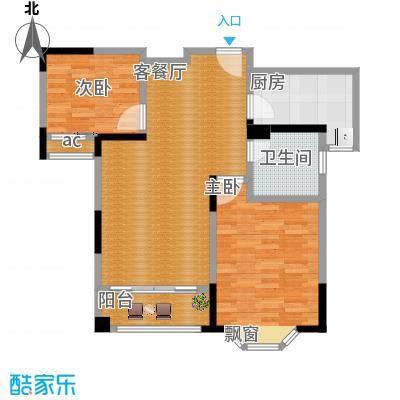 永新秀郡87.00㎡高层标准层B户型2室2厅1卫-副本